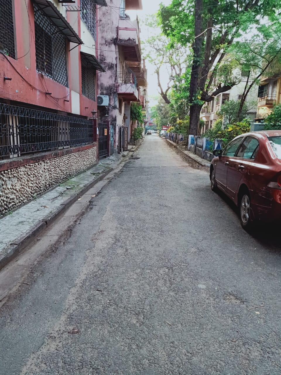 Empty stree on the day of self-isolation.
